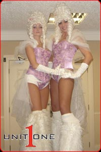 Stilt Walkers from Manchester's Unit One Entertainment - Tele 0161 788 8444